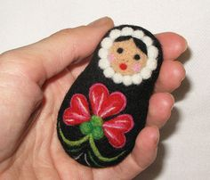 A hand crafted decoration made from felted wool.