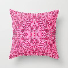 Radiate (Coral) Throw Pillow by Jacqueline Maldonado - $20.00