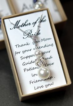 Mother of the groom ,mother of the bride gift,mother on law gift,thank you for raising the man of my dream,box & card ,blue bridal jewelry on Etsy, $29.99