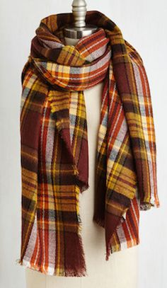 comfy plaid oversized scarf