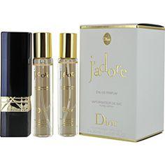 JADORE by Christian Dior SET-EAU DE PARFUM REFILLABLE PURSE SPRAY .67 OZ & TWO EAU DE PARFUM REFILLS .67 OZ EACH for WOMEN