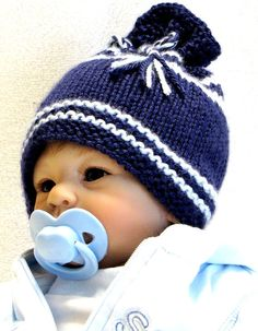 EZ Knit Baby Hat Pattern – Great as a Photo Prop – Permission to sell hats Baby Boy Knitting Patterns, Baby Hat Patterns, Baby Hats Knitting, Free Knitting, Knitted Hats, Knitting Blogs, Knitting Projects, Photo Prop, Newborn Hats