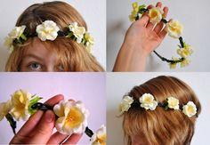 Čelenka s květy - Headband with flowers