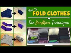KonMari Folding: How To Fold Clothes The KonMari Way - YouTube