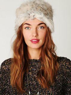 Free People Babushka Faux Fur Hat, $0.00