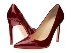 Marsala - color of the year 2105.  Patent leather pumps from Ivanka Trump.
