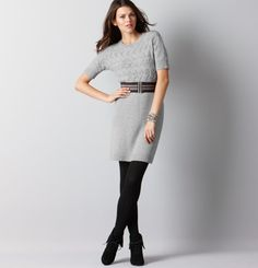 Cable Knit Sweater Dress by Ann Taylor Loft