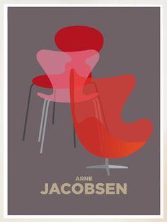 arne-jacobsen-dansk-design-ikon-aegget-svanen-syveren-stol-moeble-danish-poster-print-plakat
