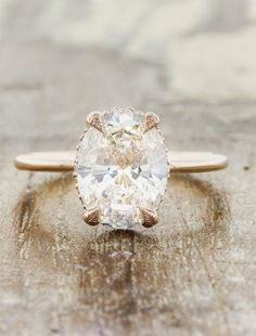 conflict free oval diamond engagement ring