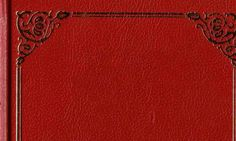 Classic red book cover