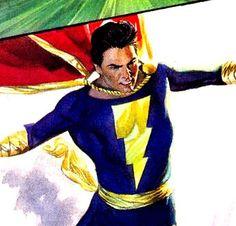 Captain Marvel Jr. Marvel Heroes, Marvel Dc, Captain Marvel Shazam, Comic Art, Comic Books, Jr Art, Alex Ross, Teen Titans, Cosplay Costumes