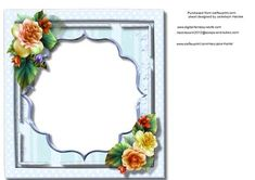 Incert Blue with Begonias  on Craftsuprint - Add To Basket!