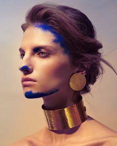 Norman, Sunshine Music, Blue Pigment, Festival Makeup, Beauty Tutorials, Beauty Editorial, Colorful Makeup, Portrait, Beauty Photography