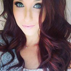 Dark Red Brown Hair Color…