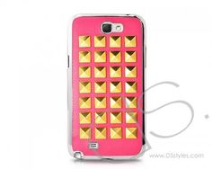 Studs Series Samsung Galaxy Note 2 Leather Cases N7100 - Pink  http://www.dsstyles.com/samsung-galaxy-note-2-cases/studs-series-samsung-galaxy-note-2-leather-cases-n7100-pink.html