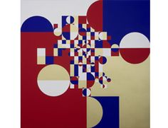 Artist: Gabriel Orozco This piece, while abstract, still has space. Depth is shown nonlinearly through the use of size and orientation, with the focal point fixed in the center, where the concentration of the circles and rectangles is the highest.