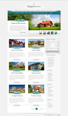 ElegantEstate #RealEstate #WordPress Theme #WPTheme #WebDesign | #WPThemeHouse