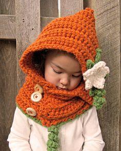 CROCHET PATTERN Pumpkin Patch Hoodie a hood w/ by TheHatandI