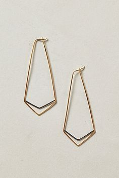 Deco Chevron Hoops #anthropologie