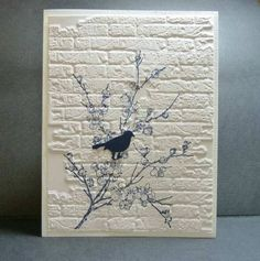 7/23/2011; Reddyisco at Splitcoaststampers; Beeswax stamp, Sizzix EF, MS bird punch; REALLY LOVELY!