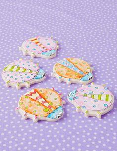 Whimsical Painted Ladybug Decorated sugar cookies