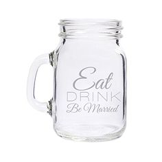 Eat Drink Be Married Engraved Mini Mason Jar set of 72 ** Want additional info? Click on the affiliate link Amazon.com on image.