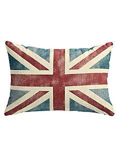 Coussin «drapeau» anglais