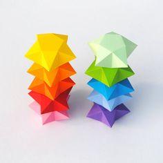 Imprimer un pliage d'étoile origami