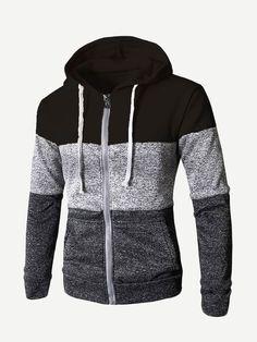 iYYVV Mens Fashion Medium Length Hoodie Zipper Pocket Cashmere Thickening Cotton Coat
