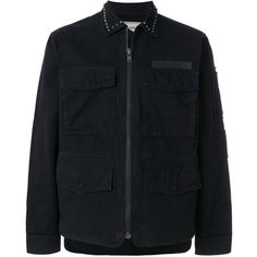 Zadig & Voltaire studded lightweight jacket (1.325 BRL) ❤ liked on Polyvore featuring men's fashion, men's clothing, men's outerwear, men's jackets, black, mens studded jacket, mens lightweight cotton jacket, mens light weight jackets, mens cotton jacket and mens lightweight jacket