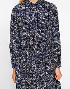 The Laden Showroom X Paisie Shirt Dress in Chevron Print £55.00 #fashion #print