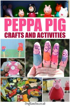 Peppa Pig Crafts and Activities. Fun ideas for toddlers and preschoolers. Great party ideas too