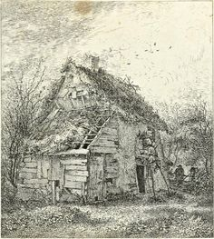 Green Street, ENFIELD HIGHWAY. John Thomas Smith's twenty etchings of extravagantly rustic cottages published as Remarks On Rural Scenery Of Various Features & Specific Beauties In Cottage Scenery in 1797