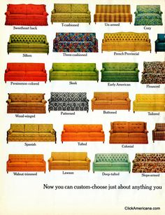 Hide-a-Bed sofa styles (1965)