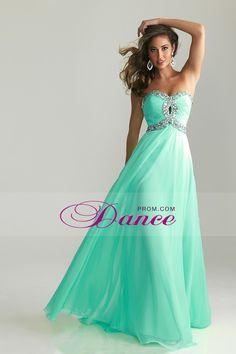 2013 Prom Dresses A Line Floor Length Sweetheart Chiffon With Rhinestone