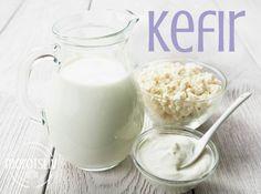Kefir, Beverages, Drinks, Kombucha, Pickles, Glass Of Milk, Healthy Recipes, Healthy Food, Paleo