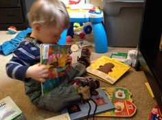 Books we love and how they can help your child learn/ lists several books for 0-plus years and what learning skills the books can assist with