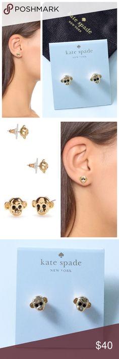 Selling this NWT Kate Spade monkey see monkey do studs on Poshmark! My username is: katwieme. #shopmycloset #poshmark #fashion #shopping #style #forsale #katespade #Jewelry #earrings #gold #monkey #gift #kate #spade #new #fashonista