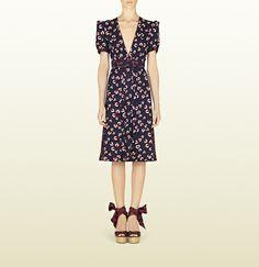 Gucci - beach ball print silk pleated dress 335909ZCP024112