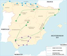 I like the purple Andalusia trail, the coastal bit and number 6 Cazorla