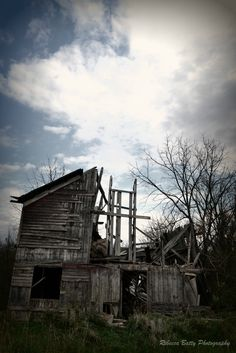 A long-abandoned barn slowly collapses in Sussex County, NJ.  $10
