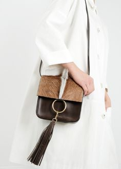 @brothervellies Brown Springbok Palma Bag #bags #ponyhair #accessories #shopthelink #garmentory #fashion #style