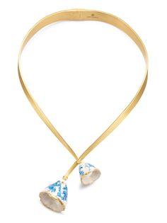 Tory Burch Flower Bud Collar Necklace