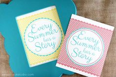 Summer Printable from Sweet Rose Studio on iheartnaptime.com - Every Summer Has A Story