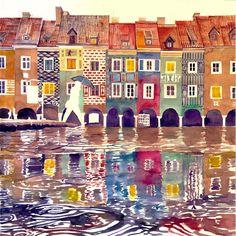 Evening in Poznan by takmaj.deviantart.com on @DeviantArt