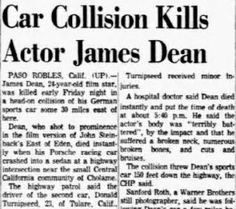 Image result for James Dean Coroner Report