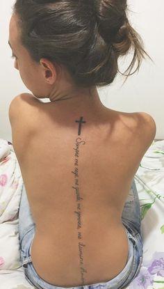 Women Sternum Tattoo, Girl Spine Tattoos, Back Tattoo Women Spine, Flower Spine Tattoos, Faith Tattoo On Wrist, Body Art Tattoos, Arabic Tattoos, Wrist Tattoos, Rose Tattoos For Women