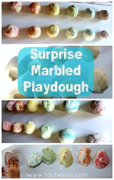 Any Edible White Play Dough, drop 2 drops food color in middle of balls (for secondary colors: put one drop each of primary color in ball, close up and give them to play...surprise in the middle. Parenting Hacks: 25 Fun And Inspirational Montessori Activities You Can Do At Home
