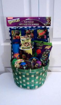 Cars easter bunny gift basket 25 all payments through paypal green teenage mutant ninja turtles easter gift basket 35 all payments through paypal please message me negle Choice Image