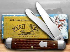 CASE XX Caramel Pocket Worn Trapper Knife Knives #Case